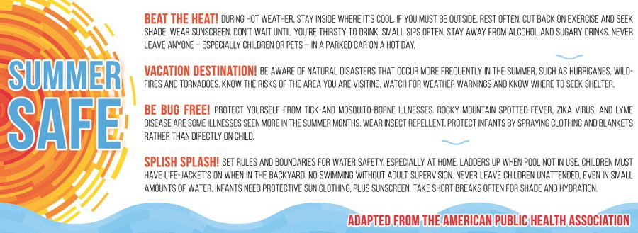 Keep these tips in mind to beat the heat and stay safe this